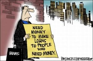 Cartoon - Banker